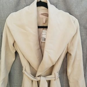 forever 21 contemporary Jackets & Coats - Taupe Coat tie front, NWT, Size small